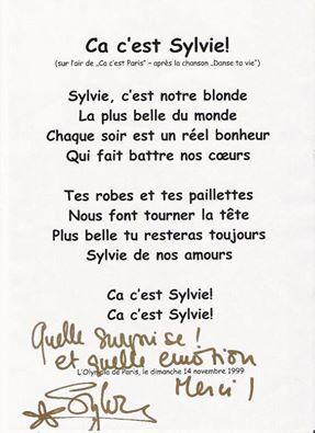 ça Cest Sylvie Poème